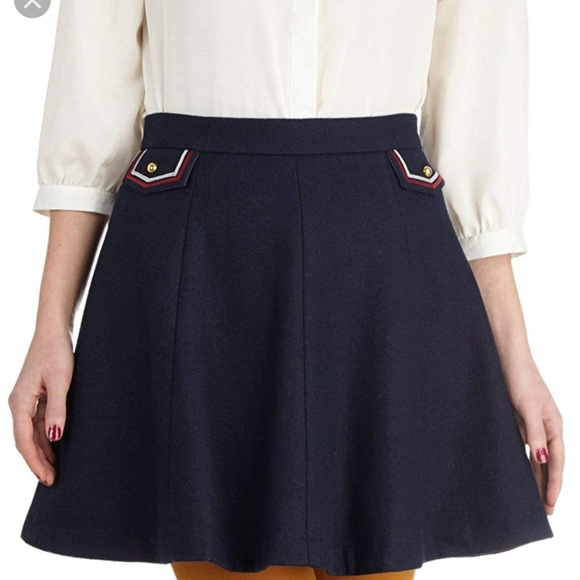 dear creatures Dresses & Skirts - dear creatures Addie Navy Skirt Retro Wool Large